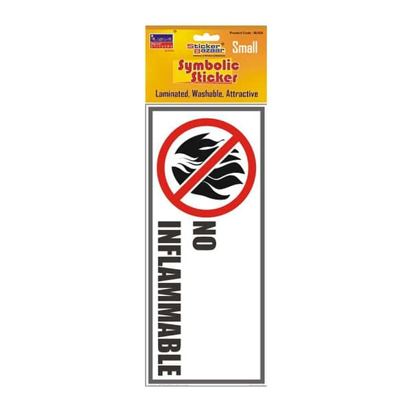 No Inflammable Small Symbolic Sticker