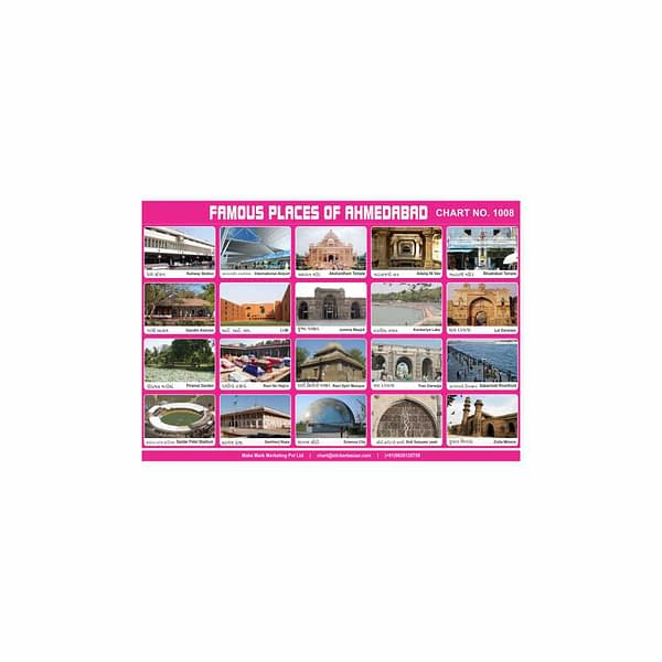 M-Stick Educational Chart 1008 Famous Places of Ahmedabad