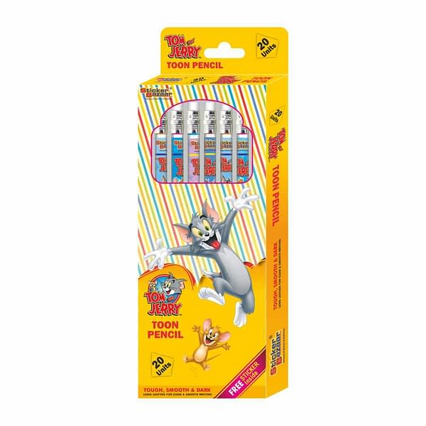 Tom & Jerry Rubber Tip Toon Pencil