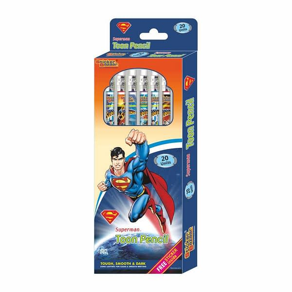Superman Rubber Tip Toon Pencil